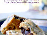 Chewy Brown Butter Blondies with Chocolate Covered Pomegranate