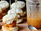 Chicken Biscuit Sliders with Chipotle Honey Butter