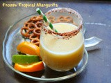 Frozen Tropical Margarita with Sweet Chile Rim