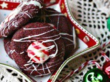 Hershey Kiss Cookies: Holiday Red Velvet Peppermint