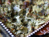 Hot Spinach Artichoke Dip with Smoked Provolone