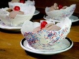Making White Chocolate Bowls for July 4th