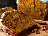 Pumpkin Spice Bread with Bourbon Glaze