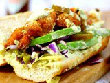 Shrimp Po Boy with Spicy Avocado Remoulade