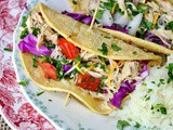 Tequila Lime Chicken Tacos: Slow Cooker Easy