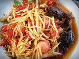 Papaya Salad…. one of Thailands iconic dishes
