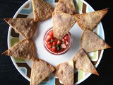 Cinnamon Sugar Tortilla Chips with Strawberry Salsa