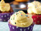 Eggless Mango Cupcakes with Mango Cream Cheese Frosting