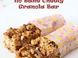 No Bake Chewy Granola Bar
