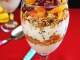 Peanut Butter Granola and Peanut Honey Yogurt Parfait