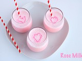 Rose Milk with Homemade Syrup