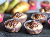 Chocolate Glazed Pear Breakfast Muffin