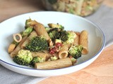 Recipe: Oven Roasted Broccoli and Walnut Pasta Salad