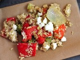 Recipe: Roasted Broccoli Red Pepper Bulgur Salad