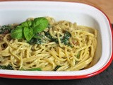 Recipe: Spinach Walnut Linguini