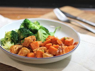 Smoky Oven Roasted Sweet Potato and Chicken