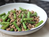 Stir Fry minced meat with long beans