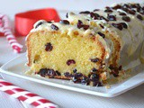 Christmas cranberries pound cake