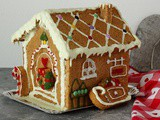 Casetta pan di zenzero vegan | Healthy gingerbread house