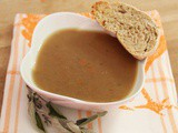 Crema di lenticchie rosse all'arancia | Red lentils and orange soup