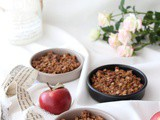 Crumble light di mele al cioccolato| Oats apple crisp {vegan, gluten free}