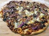 How To Make Pizza: Thin Crust Spinach Walnut Pizza With Mushrooms, Onions, Gorgonzola And Anchovies