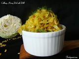 Cabbage Moong Dal With Dill