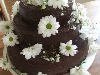American Chocolate Wedding Cake