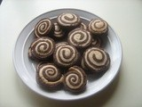 Chocolate and Vanilla Pinwheel Biscuits