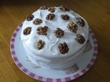 Frosted Walnut Layer Cake