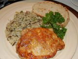 Herbed Skillet Pork Chops and Onion Wild Rice