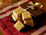 Kadi ~ Mangalorean Wedding Style Besan Burfi (Chickpea Flour Fudge) ~ Gluten Free Indian Sweet