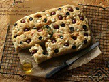Schiacciata Con l'uva (Tuscan Style Grape, Olive and Goat Cheese Focaccia) No Knead Bread! ~ #Breadbakers