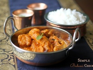 Simple Badami Chicken ~ Chicken in Almond Sauce