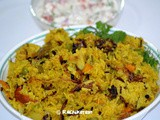Cooker Vegetable Biriyani | Kids Lunch Box Menu
