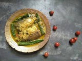 Assamese style Fish recipe with modhuxulung, cheery tomatoes and okra