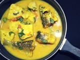 Fish curry with taro root and thai basil