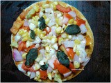 Indian style Veg Pizza on Tawa
