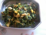 Methi (fenugreek leaves) bhaji recipe