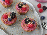 Berry Frozen Treats in Honey Roasted Almond Cups