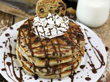 Coconut Chocolate Chip Cookie Pancakes