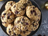 Cranberry Coconut Chocolate Chip Cookies