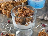 Cranberry Coconut Granola Yogurt Bowls