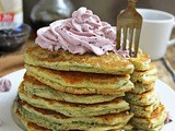 Easy Marionberry Protein Pancakes with Marionberry Coconut Cream