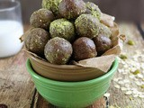 Easy No Bake Chocolate Pistachio Bites