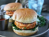 Easy Spiced Salmon Spinach Burgers
