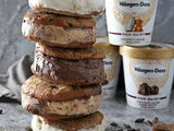 Flourless Peanut Butter Chocolate Cookie Ice Cream Sandwiches