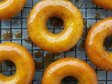 Golden Donuts with Caramel Glaze