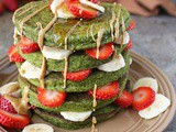 Green Smoothie Oatmeal Pancakes