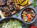 Pork And Grilled Pineapple Salsa Dinner